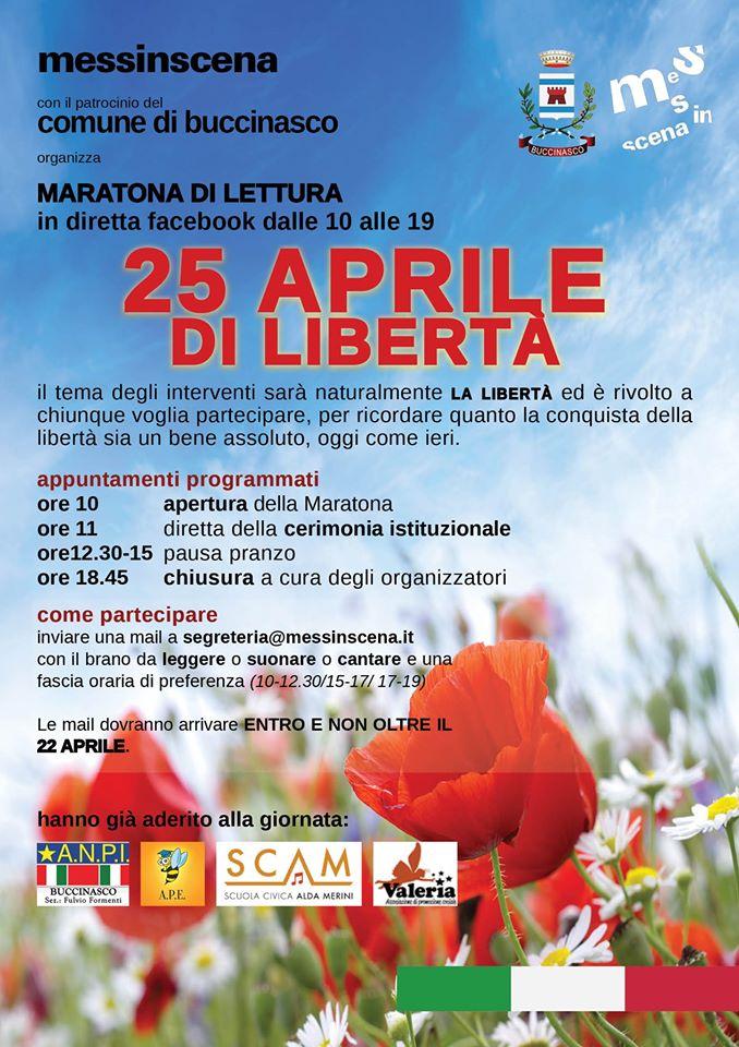 25 aprile 2020 comune di Buccinasco