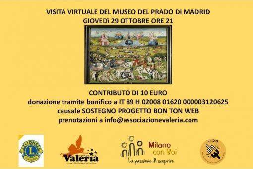 Visita virtuale al Museo del Prado con l'Associazione Valeria