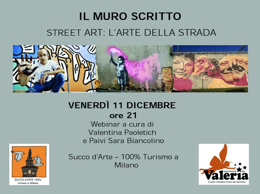 Locandina Steet Art - Associazione Valeria